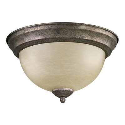 Flush Mount Size: 6.5 H x 13.5 W, Finish: Oil Bronze