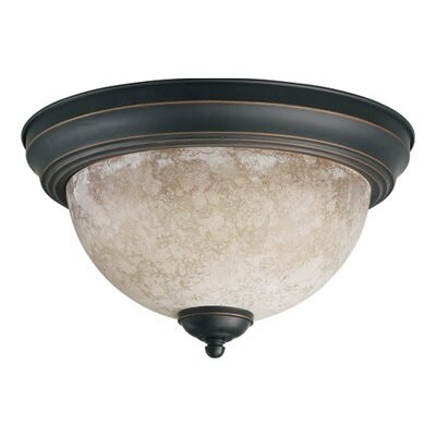 Naturals Flush Mount Finish: Old World, Size: 7 H x 15.25 W