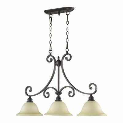 Asheville 3-Light Bell Shade Kitchen Island Pendant