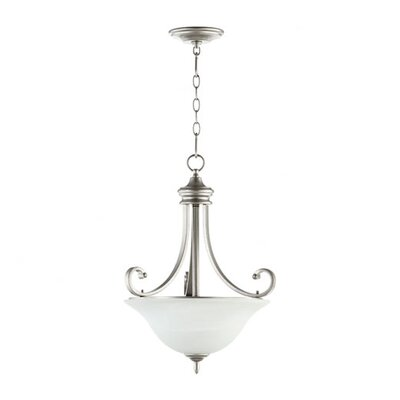 Asheville 3-Light Inverted Pendant Finish: Classic Nickel