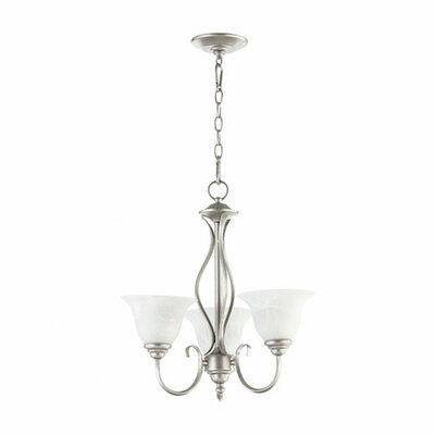 Spencer 3-Light Shaded Chandelier Finish: Classic Nickel