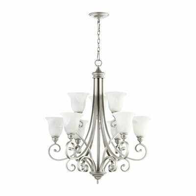 Bryant 9-Light Shaded Chandelier Finish: Classic Nickel