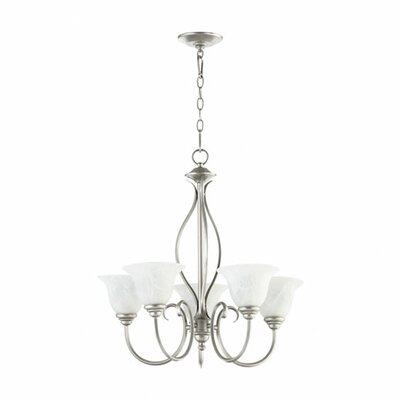Spencer 5-Light Shaded Chandelier Finish: Classic Nickel