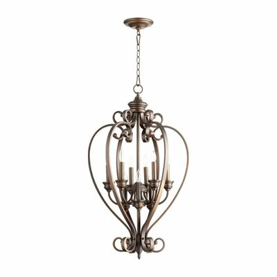 Asheville 9-Light Foyer Pendant Finish: Oiled Bronze