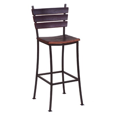Stave 24 Bar Stool Finish: Rouge