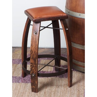 "No credit check financing 24"" Leather  Stave Stool Color..."