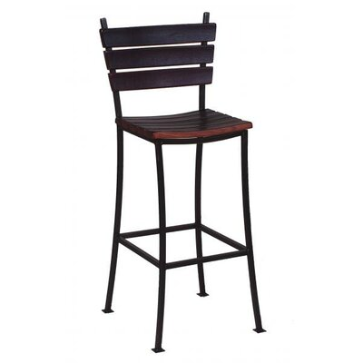 "Stave 24"" Bar Stool Finish: Brown"
