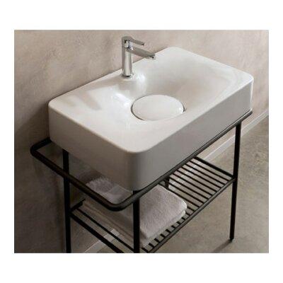 Fuji Ceramic Rectangular Vessel Bathroom Sink