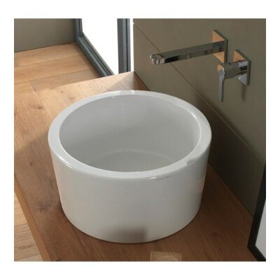 Bucket Ceramic Rectangular Vessel Bathroom Sink