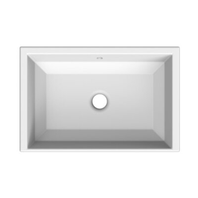 Tech Ceramic Rectangular Undermount Bathroom Sink with Overflow