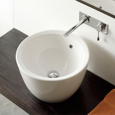 Matty Tondo Circular Vessel Bathroom Sink with Overflow