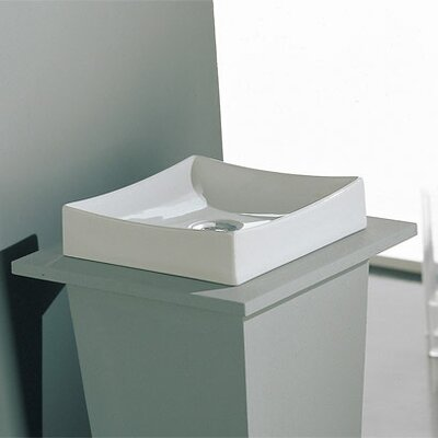 Tsunami Square Vessel Bathroom Sink with Overflow