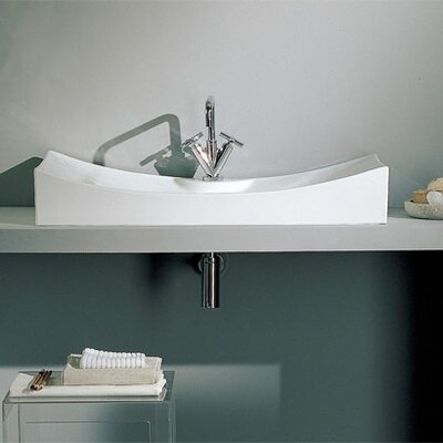 Tsunami Ceramic Rectangular Vessel Bathroom Sink