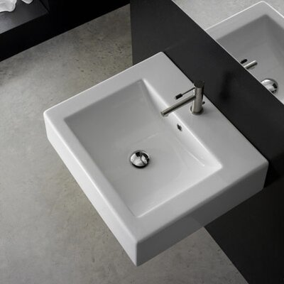 24 Wall Mounted Bathroom Sink with Overflow