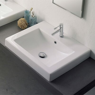 Ceramic Built-in Self Rimming Bathroom Sink