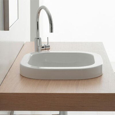 Next Ceramic Square Drop-In Bathroom Sink