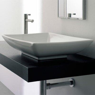 Kylis Ceramic Rectangular Vessel Bathroom Sink