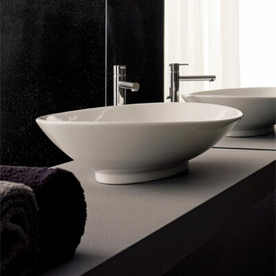 Neck Oval Vessel Bathroom Sink