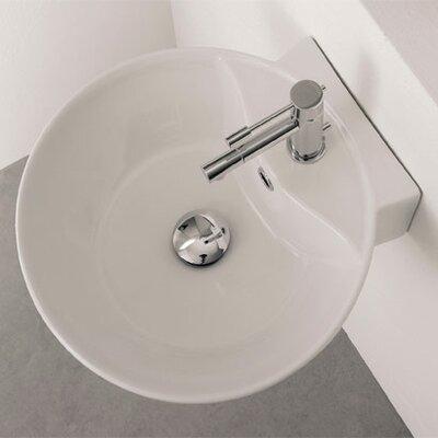 Sfera Ceramic 16 Wall Mount Bathroom Sink with Overflow