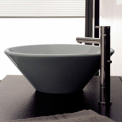 Cono Ceramic Circular Vessel Bathroom Sink