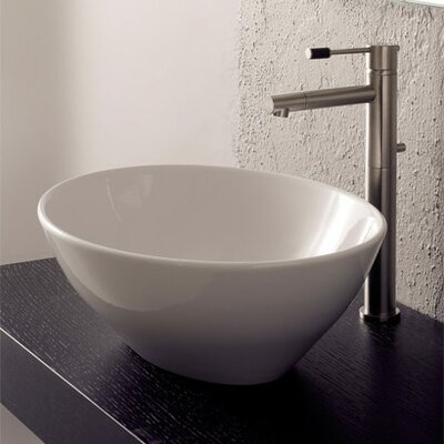 Ovo Ceramic Oval Vessel Bathroom Sink