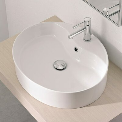 Wind Oval Vessel Bathroom Sink with Overflow