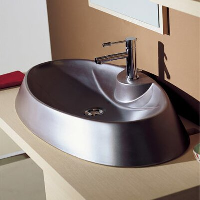 Rugby Ceramic Oval Vessel Bathroom Sink