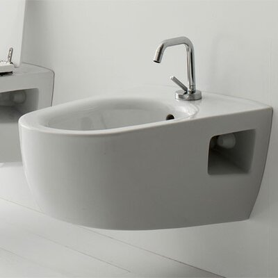 Tizi Wall Mount Bidet Finish: White