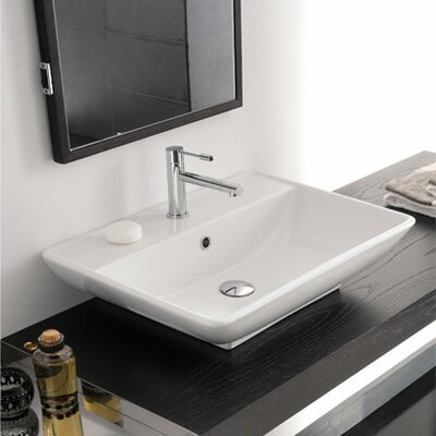 Kylis 24 Wall Mounted Bathroom Sink with Overflow