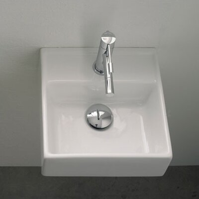 Teorema Ceramic 12 Wall Mount Bathroom Sink with Overflow