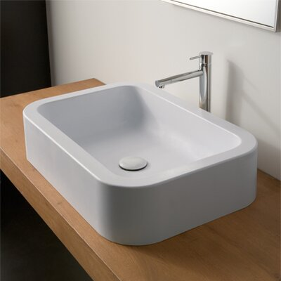 Next Ceramic Rectangular Vessel Bathroom Sink