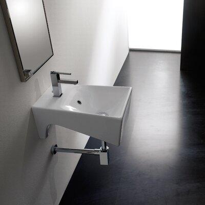 Bijoux 13 Wall Mounted Bathroom Sink with Overflow