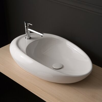 Moai Oval Vessel Bathroom Sink