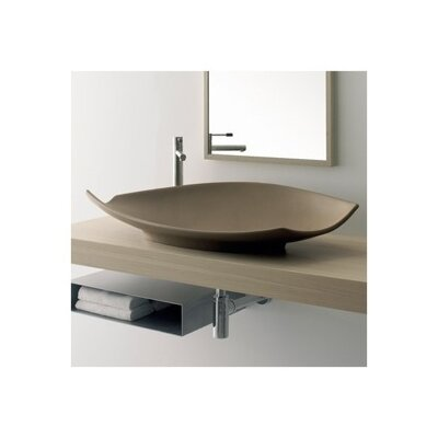 Kong Ceramic Oval Vessel Bathroom Sink Sink Finish: Brown