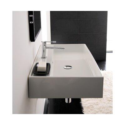 Teorema 24 Wall Mounted Bathroom Sink with Overflow