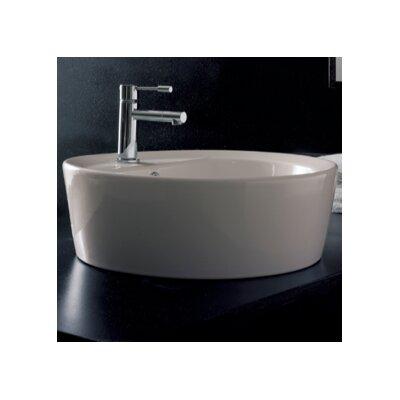Matty Circular Vessel Bathroom Sink with Overflow