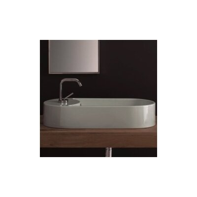 Seventy Ceramic Oval Vessel Bathroom Sink