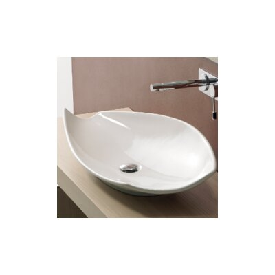 Kong Ceramic Oval Vessel Bathroom Sink Sink Finish: White