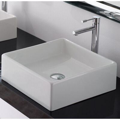 Teorama Square Vessel Bathroom Sink with Overflow
