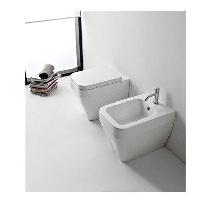 Bucket Ceramic Rectangular Vessel Bathroom Sink with Overflow
