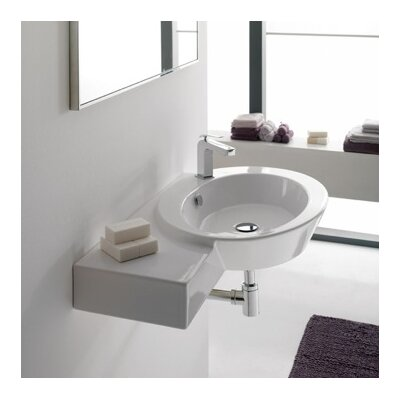 Wish 34 Wall Mounted Bathroom Sink with Overflow