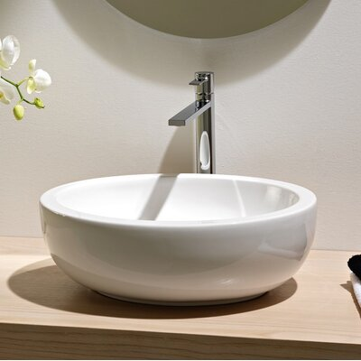 Planet Ceramic Oval Vessel Bathroom Sink with Overflow