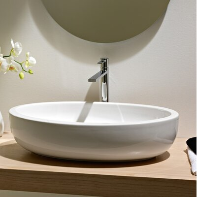 Planet Oval Vessel Bathroom Sink with Overflow