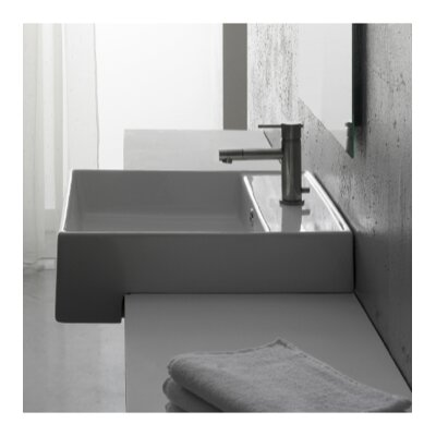 Teorema Square Vessel Bathroom Sink with Overflow