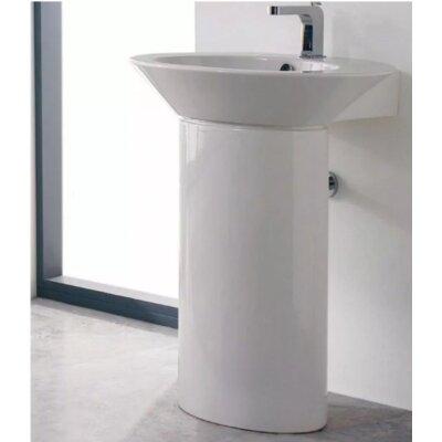 Wish Ceramic 32 Pedestal Bathroom Sink with Overflow