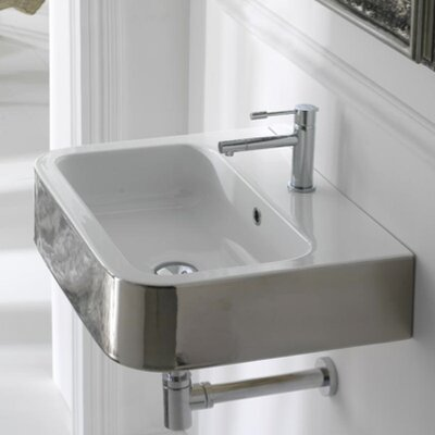 Next Rectangular Vessel Bathroom Sink with Overflow