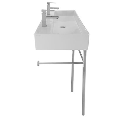 Teorema 47Wall Mounted Bathroom Sink with Overflow