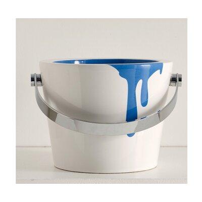Bucket Circular Vessel Bathroom Sink with Overflow