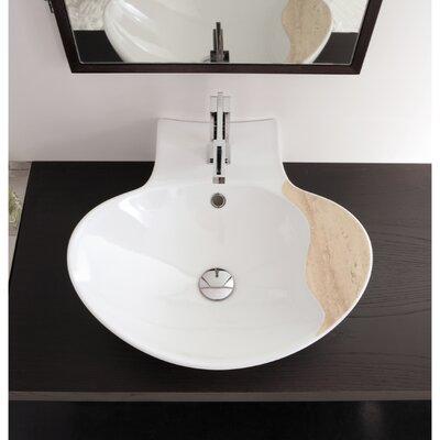 Zefiro 20 Wall Mounted Bathroom Sink with Overflow