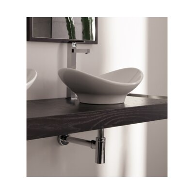 Zefiro Ceramic Oval Vessel Bathroom Sink
